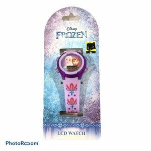 Girls Disney's Frozen Elsa and Anna LCD Watch